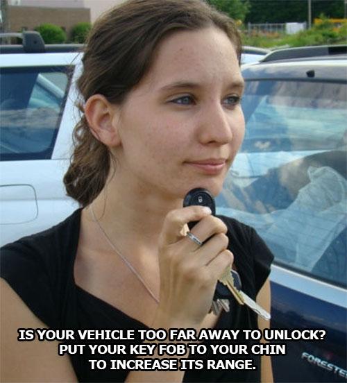 life-hack-cars-key-fob-chin-increase-range